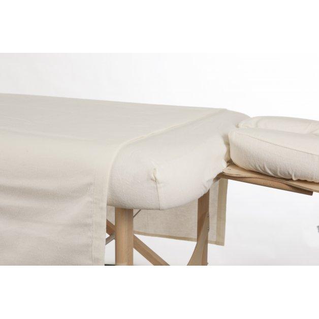 Drap plat - Flanelle de coton Allez Housses Draps et ensemble de draps de massage