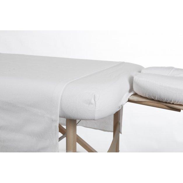 Drap housse/contour - Flanelle de coton Allez Housses Draps et ensemble de draps de massage