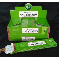 Encens en bâtons Nag Champa Organique - 20 bâtons