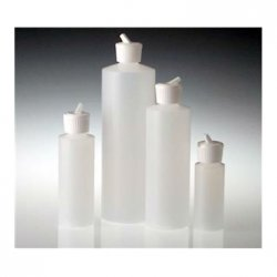 Flip-top dispensing bottle