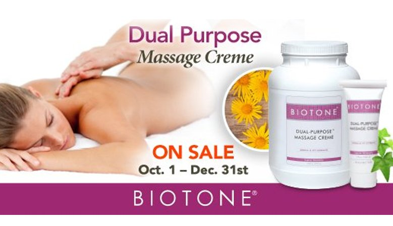 Promotion on all size of Dual Purpose massage cream until 31th december 2017!